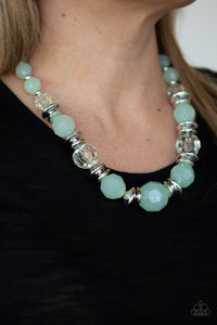 Dine and Dash - Green Necklace 1252N