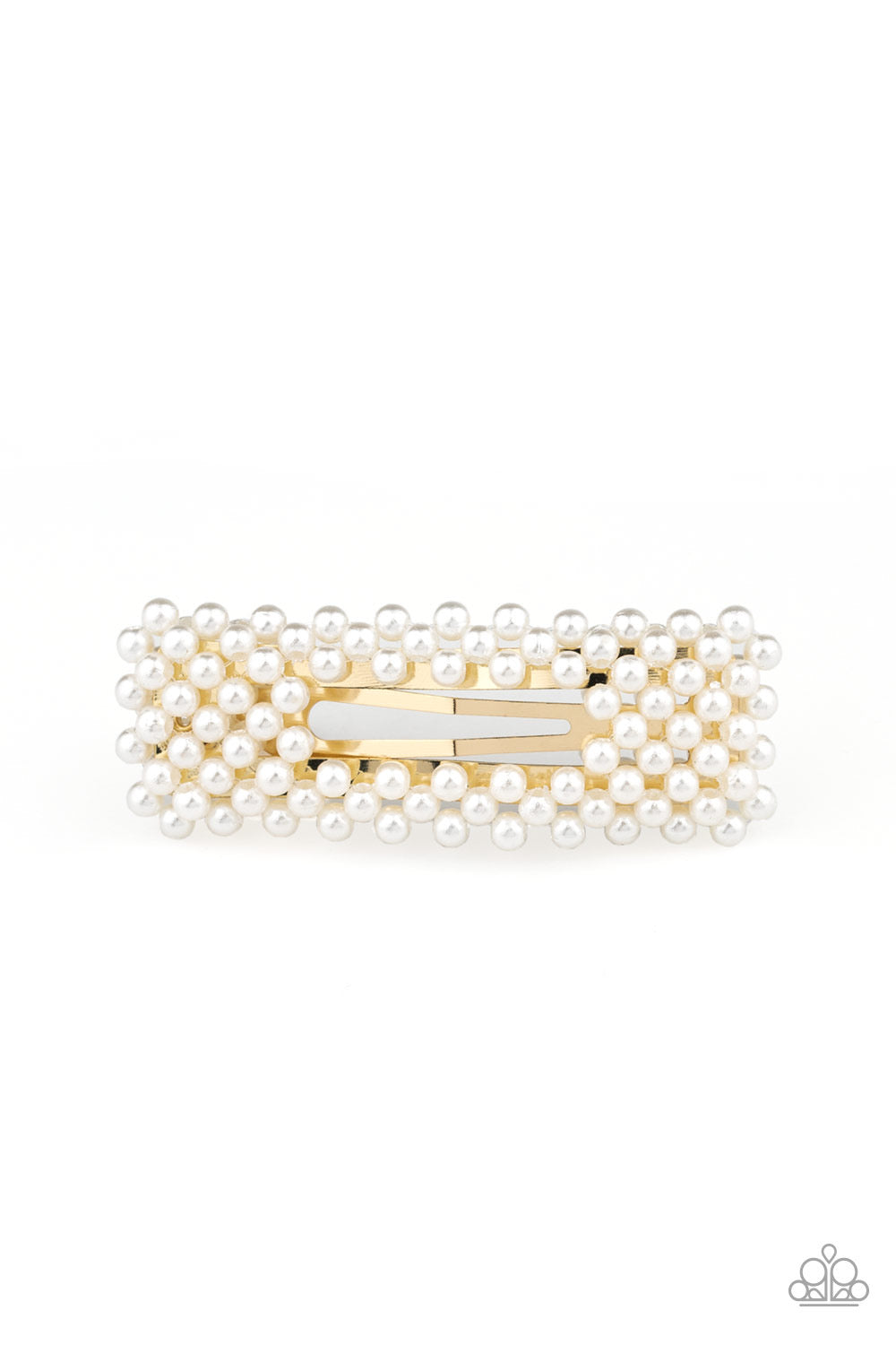 Clutch Your Pearls - Gold Hair Clip