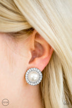 Load image into Gallery viewer, Don't Forget Your Glass Slipper ! White Clip On Earring 2651E