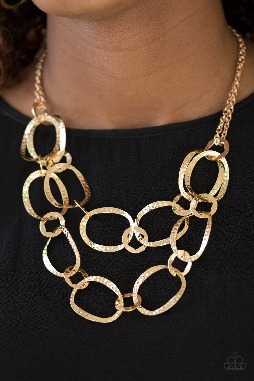 Circus Chic - Gold Necklace 1326n