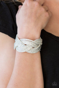 Big City Shimmer - White Bracelet
