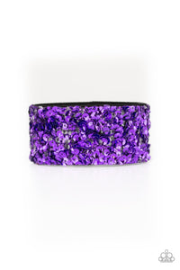 Starry Sequins - Purple Bracelet 1559B