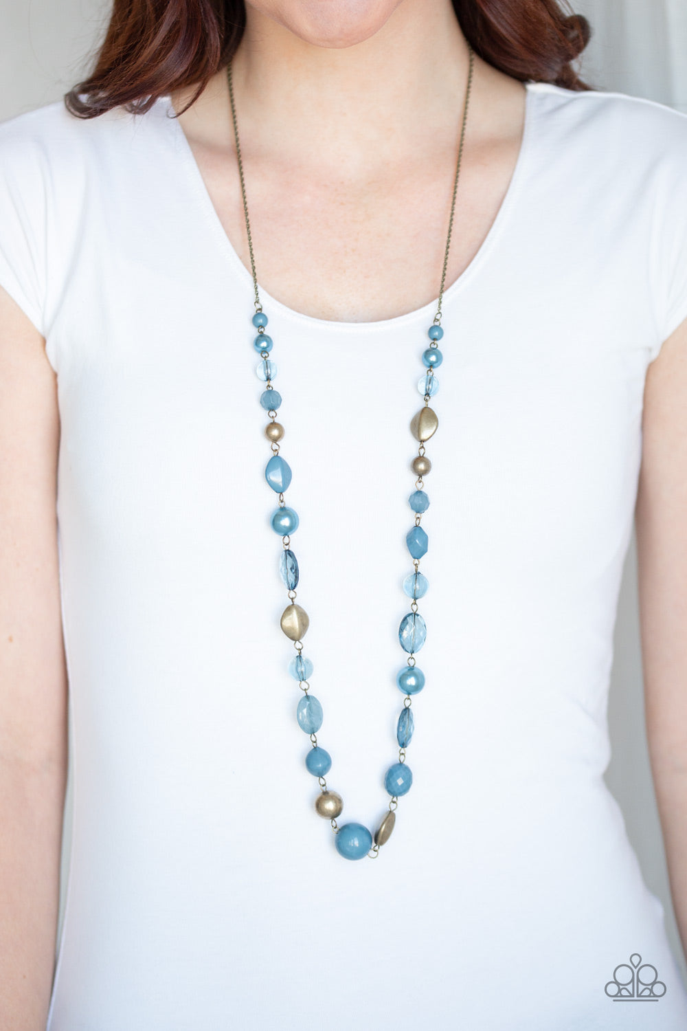 Secret Treasure-  Blue  Necklace