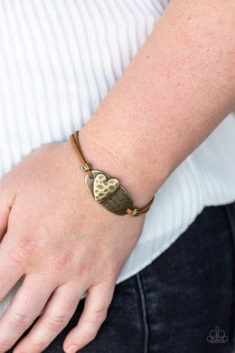 A Full Heart - Brass Bracelet