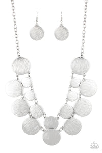 Stop and Reflect - Silver Necklace 1087n
