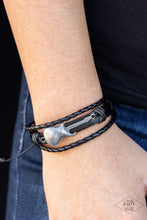 Load image into Gallery viewer, Lead Guitar - Black Bracelet 1603B