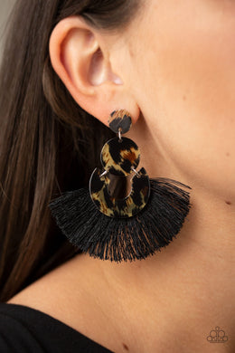 One Big Party ANIMAL - Black Earring