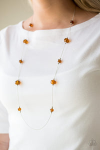 Champagne On The Rocks - Brown Necklace 1102N