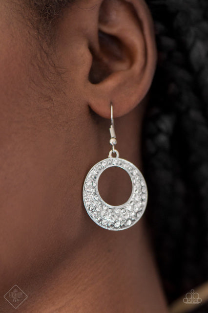 Glitter On Repeat  - Silver Earring