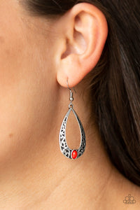 Colorfully Charismatic - Red Earring