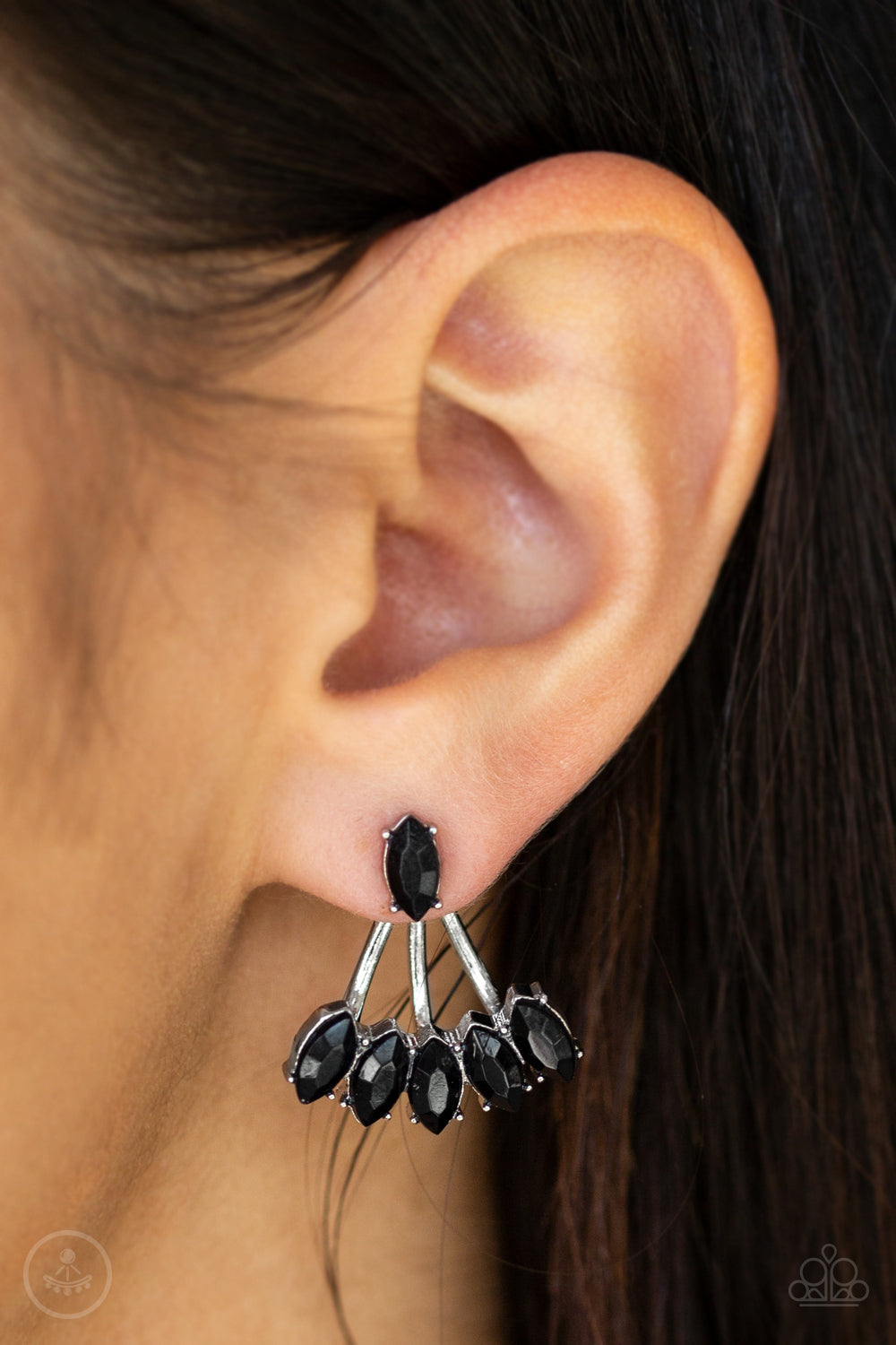 Chicly Carnivalesque - Black Earring