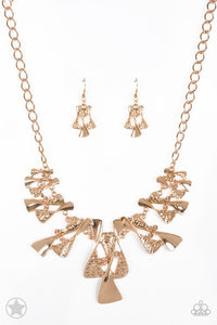 The Sands of Time - Gold Blockbuster Necklace 1275N