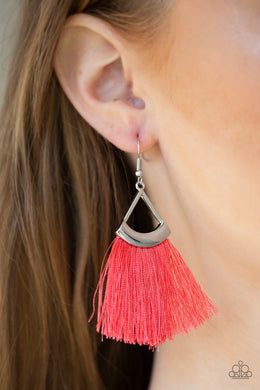 Tassel Tuesdays - Orange Earring
