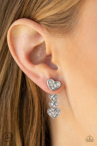 Heartthrob Twinkle - White Earring