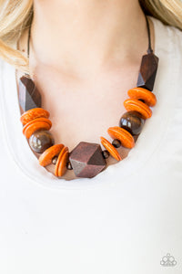 Pacific Paradise - Orange Necklace 1200N