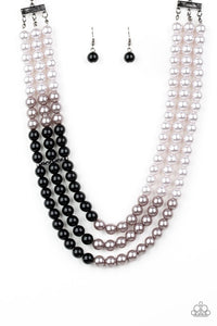 Times Square Starlet  & Central Park Celebrity - Black Necklace & Bracelet Set 88n