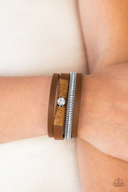 Catwalk Craze - Brown  Urban Bracelet