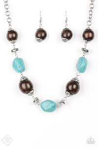 Earth Godess - Blue Necklace & Bracelet Set