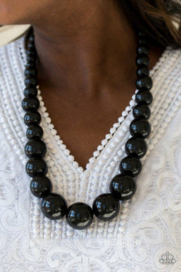 Effortlessly Everglades - Black Necklace