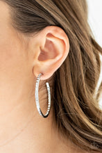 Load image into Gallery viewer, Comin Into Money - White Earring 2551E