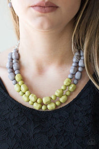 Island Excursion - Green Necklace 32n