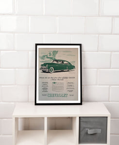 Vintage Chevrolet Car Advertisement