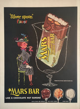 Vintage Mars Candy Bar Advertisement