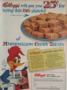 Vintage Kellogs Cereal Advertisement