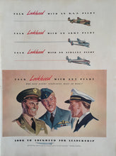 Vintage Lockheed Wartime Advertisement