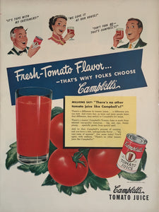 Vintage Campbell's Tomato Juice Advertisement