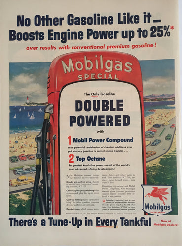 Vintage Mobil Gas Advertisement