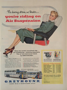 Vintage Greyhound Bus Advertisement