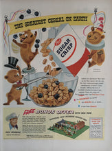 Vintage Post Sugar Crisps Cereal Advertisement