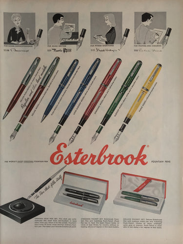 Vintage Esterbrook Pen Advertisement