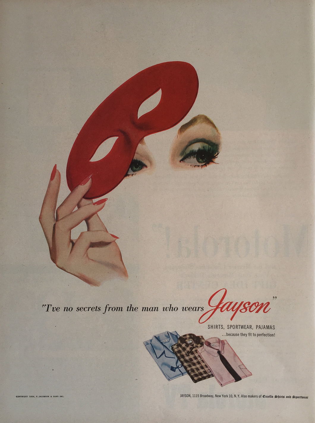 Vintage Jayson Men's Fashion Advertisement