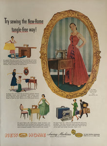 Vintage New Home Sewing Machine Advertisement