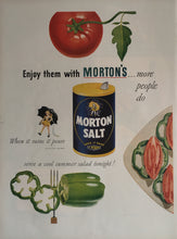 Vintage Morton Salt Advertisement