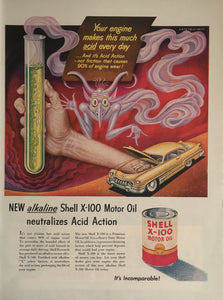 Vintage Shell Motor Oil Advertisement