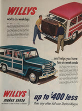 Vintage Willy's Station Wagon Advertisement