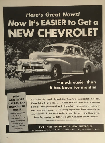 Vintage Chevrolet Trucks Advertisement