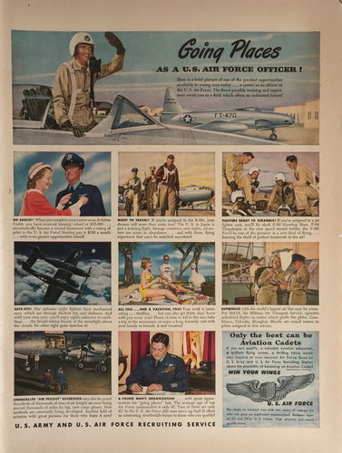 Vintage United States Air force Officer Advertisement