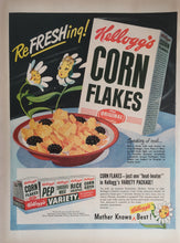 Vintage Kellogg's Corn Flakes Cereal Advertisement