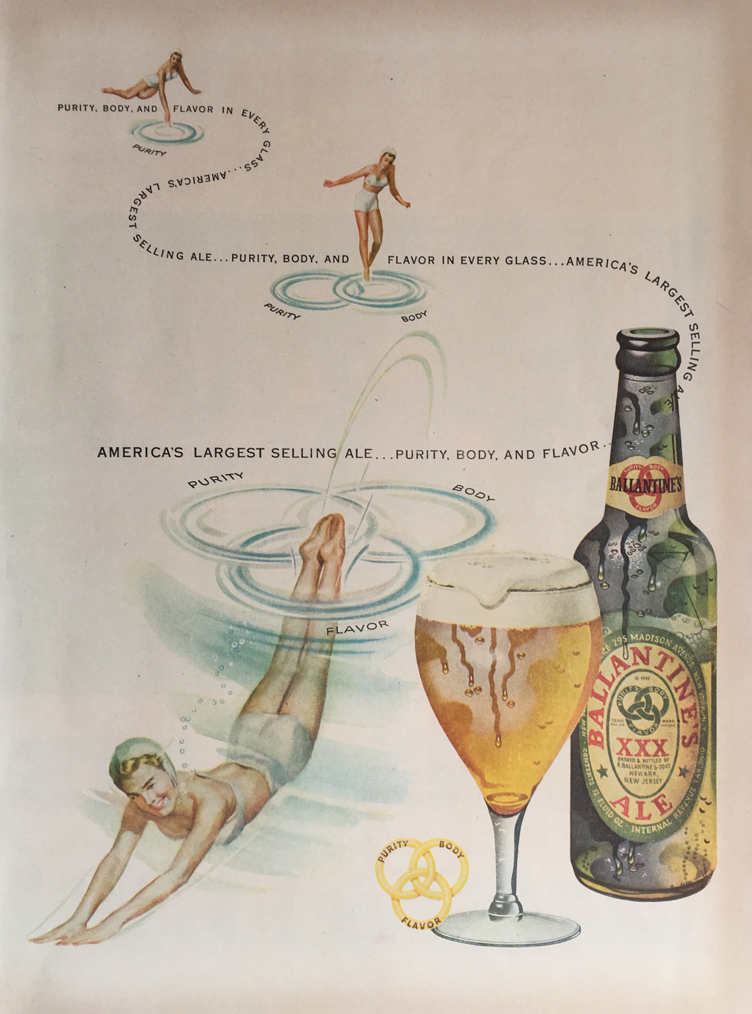 Vintage Ballantine's Ale Advertisement