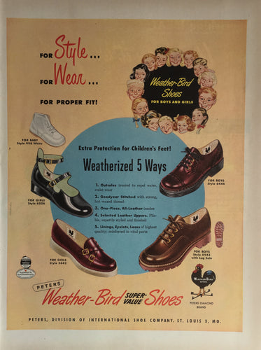 Vintage Weather Bird Shoes Advertisement