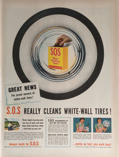 Vintage S.O.S. Scrubbing Pads Advertisement