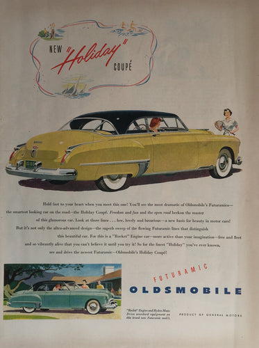 Vintage Oldsmobile Car Advertisement