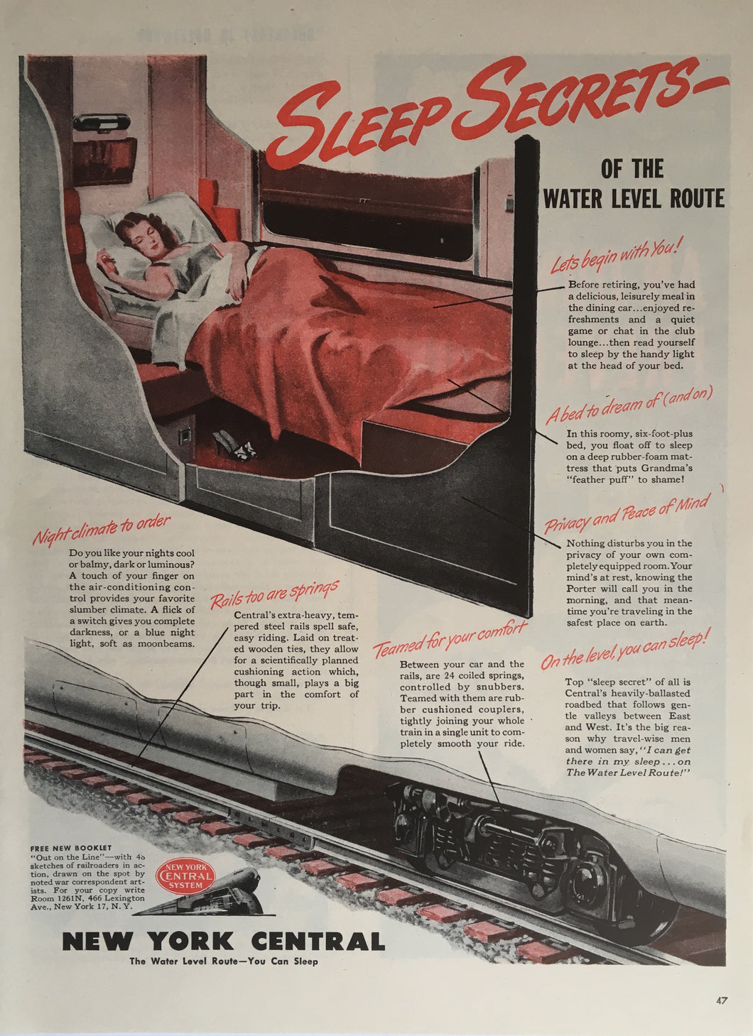 Vintage New York Central Train Advertisement