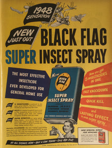 Vintage Black Flag Insect Spray Advertisement