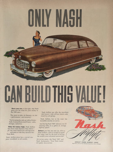 Vintage Nash Car Advertisement