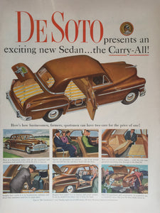Vintage De Soto Car Advertisement